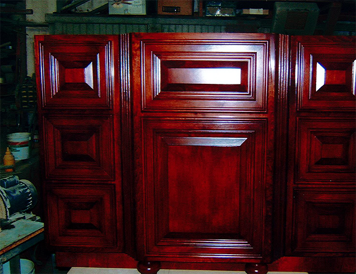 Custom Stained Cabinet