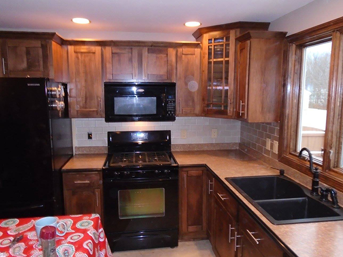 New Brown Cabinets